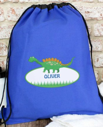 Personalised Cute Dinosaur P.E Kit Bag