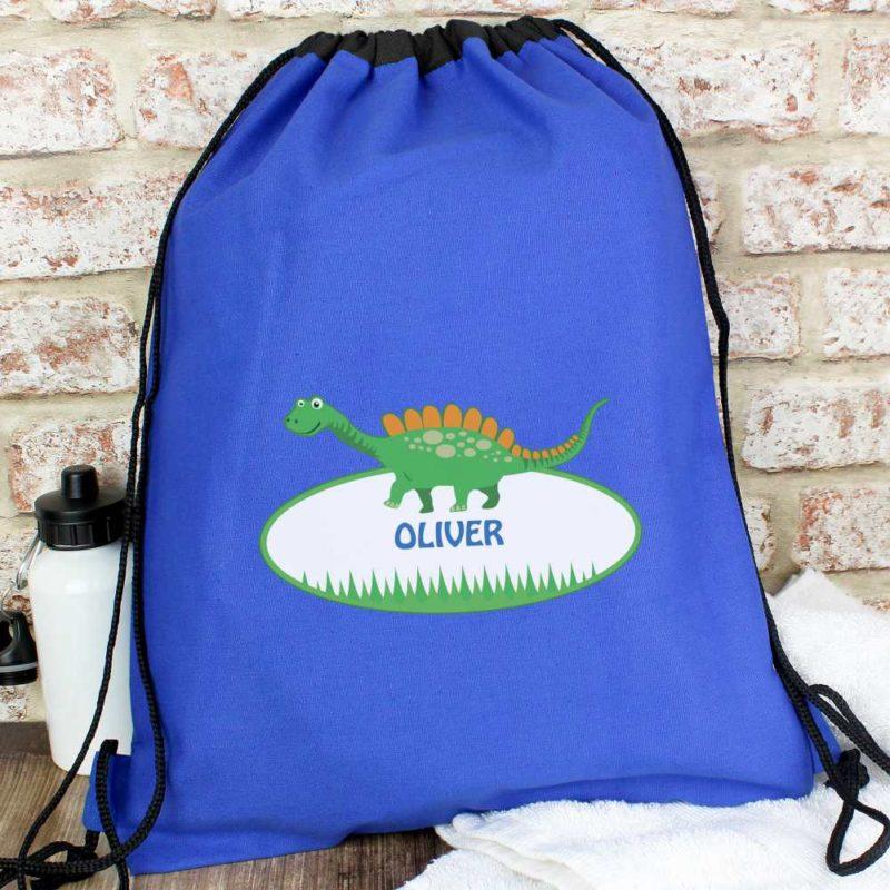 Personalised Cute Dinosaur P.E Kit Bag