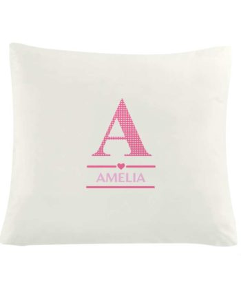 Personalised Girls Initial Cushion Cover