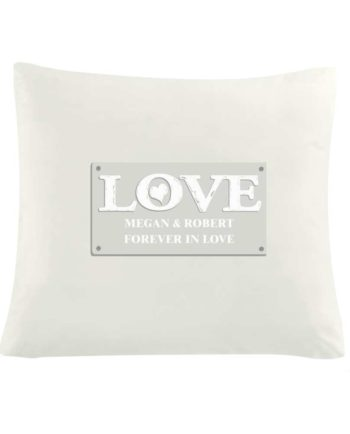 Personalised LOVE Cushion Cover