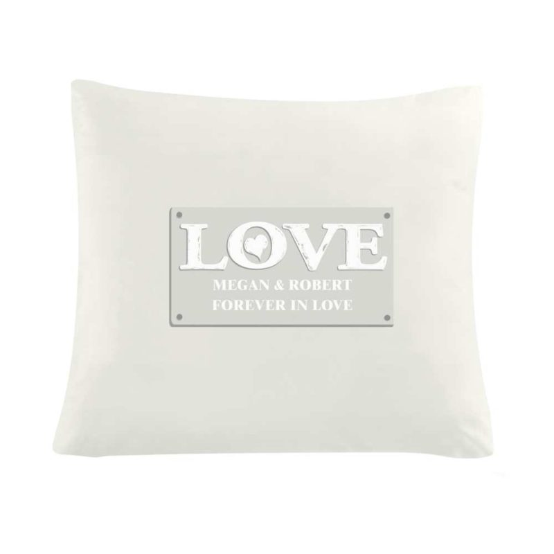 Personalised 'LOVE' Cushion Cover