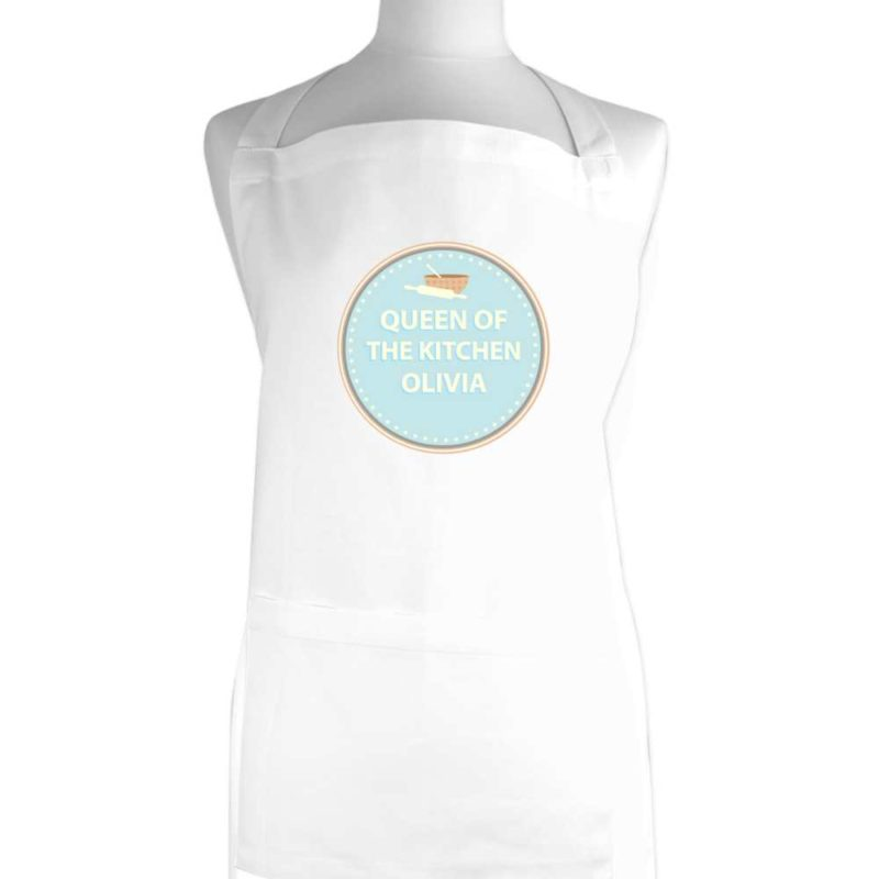 Personalised Bakers White Apron