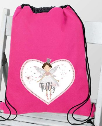 Personalised Magical Fairy Hot Pink P.E Kit Bag