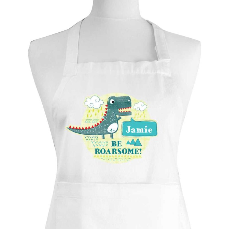 Personalised 'Be Roarsome' Dinosaur Children's Apron