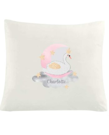 Personalised Swan Lake Cushion Cover