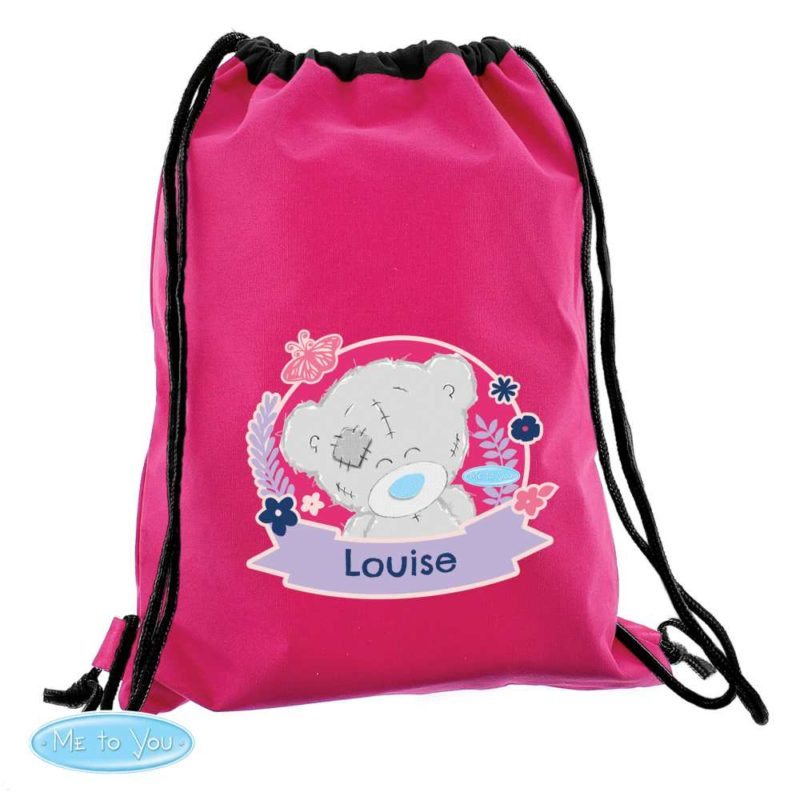 Personalised 'Me To You' Hot Pink P.E Kit Bag