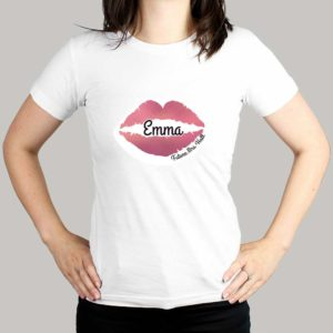 Personalised Lips Hen Party White T-Shirt