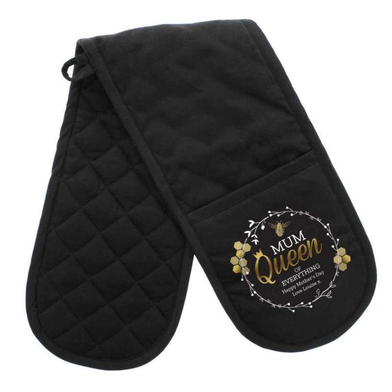 Personalised 'Queen Bee' Oven Gloves