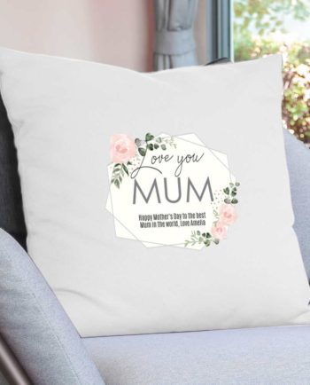 Personalised Cushion Cover - Rose Cream