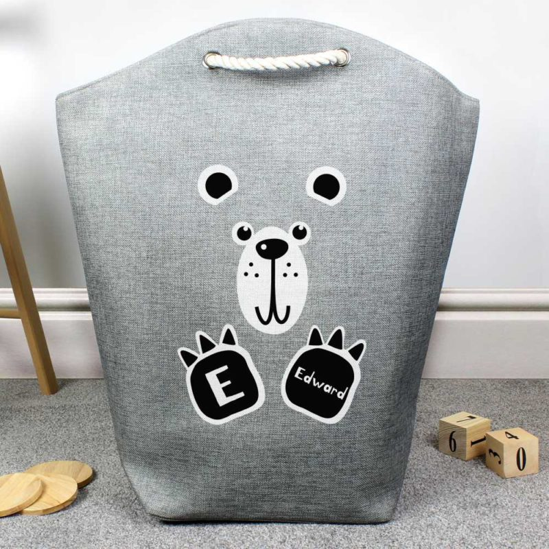 Personalised Cute Bear Storage Bag