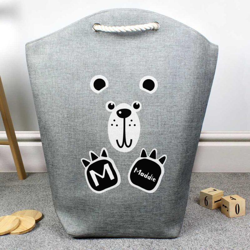 Personalised Cute Bear Storage Bag