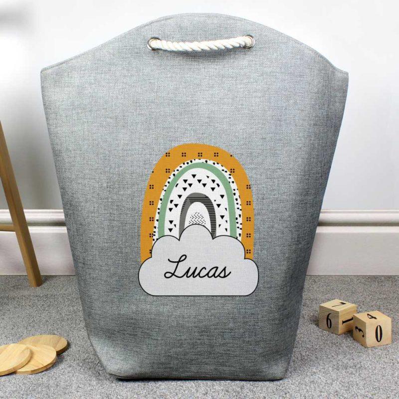 Personalised Green Rainbow Storage Bag