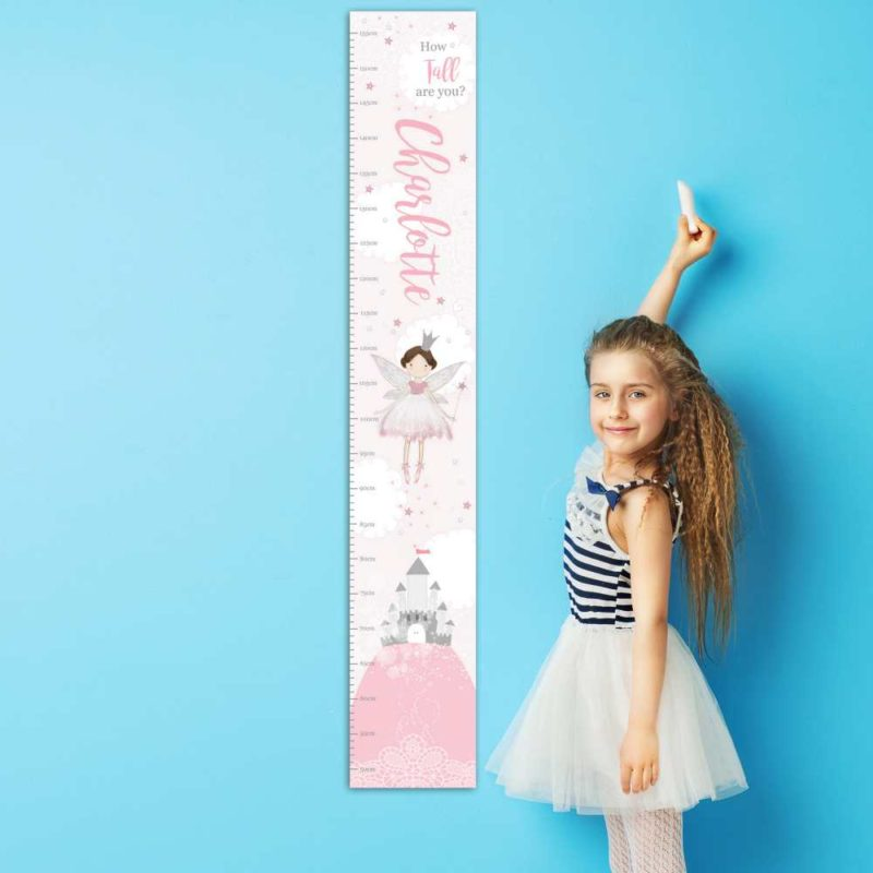 Personalised Magical Fairy Height Chart
