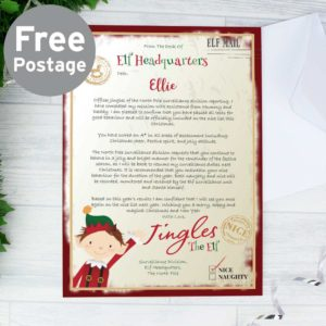 Personalised Elf 'On the Nice List' Surveillance Christmas Letter