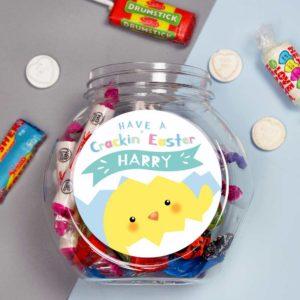 Personalised 'Have A Cracking Easter' Sweetie Jar