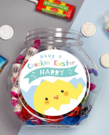 Personalised 'Have A Cracking Easter' Sweetie Jar