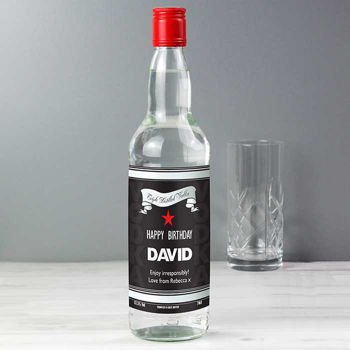Personalised Black and Silver Label Vodka