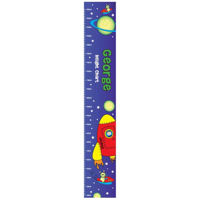 Personalised Rocket & Planets Height Chart