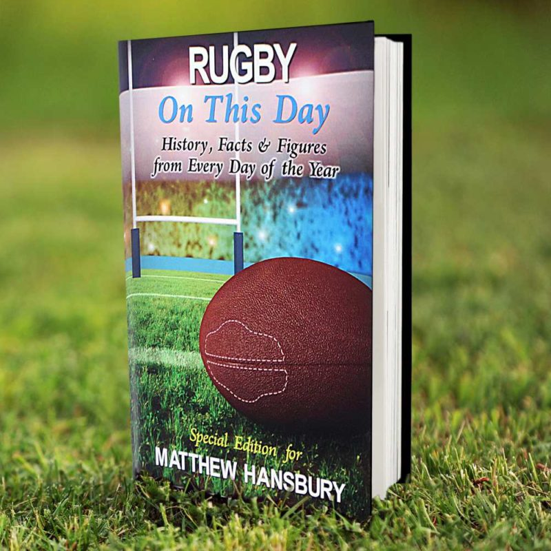 Personalised Rugby 'On This Day' Book
