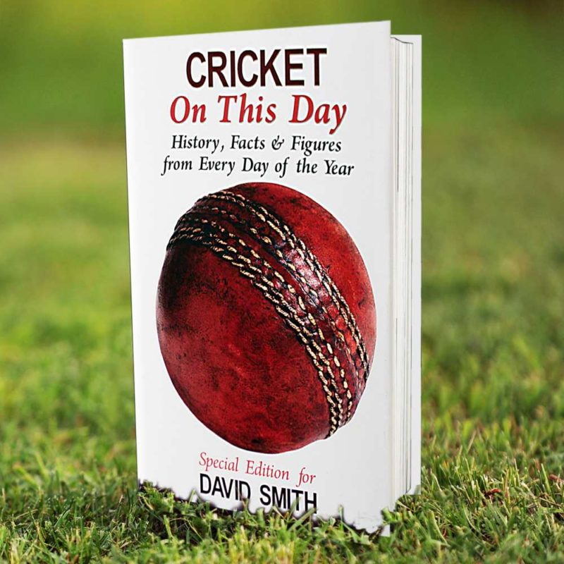 Personalised Cricket 'On This Day' Book