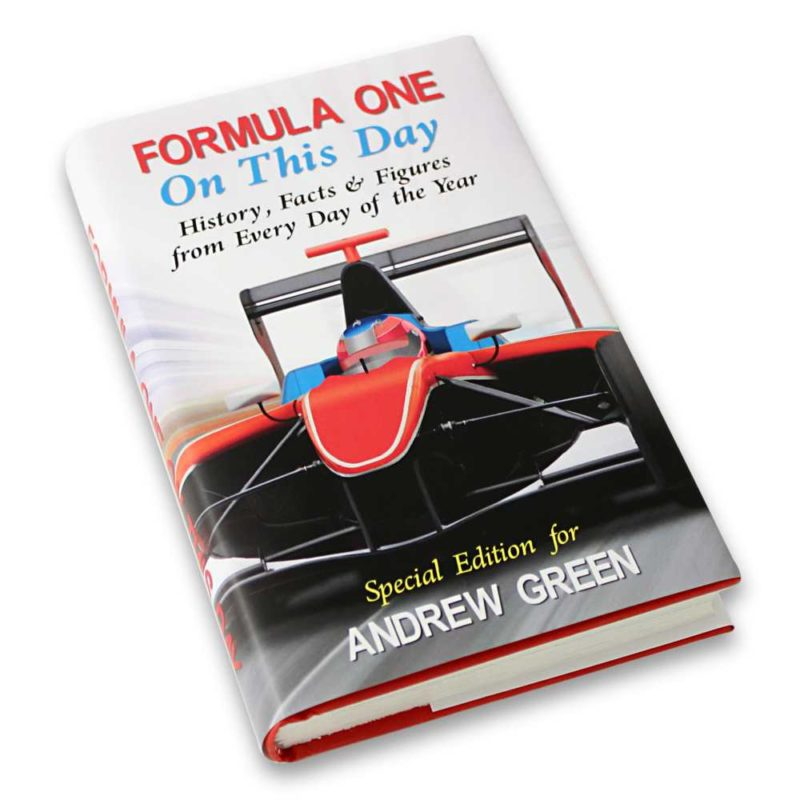 Personalised Formula 1 'On This Day' Book