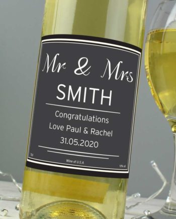 Personalised White Wine Bottle