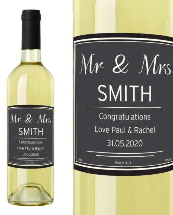 Personalised White Wine Bottle