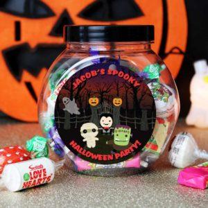 Personalised 'Spooky' Halloween Sweet Jar