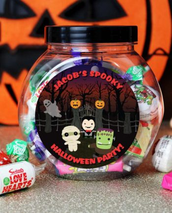 Personalised 'Spooky' Halloween Sweet Jar