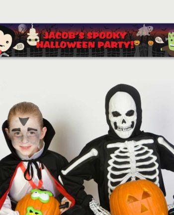 Personalised 'Spooky' Halloween Banner