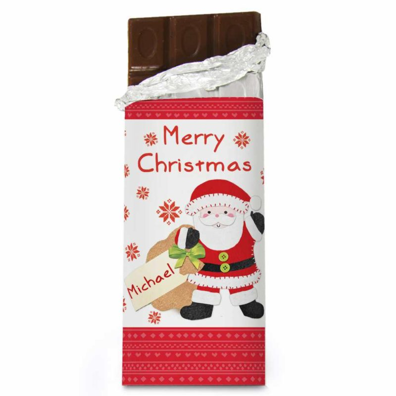 Personalised 'Message From Santa' Milk Chocolate Bar
