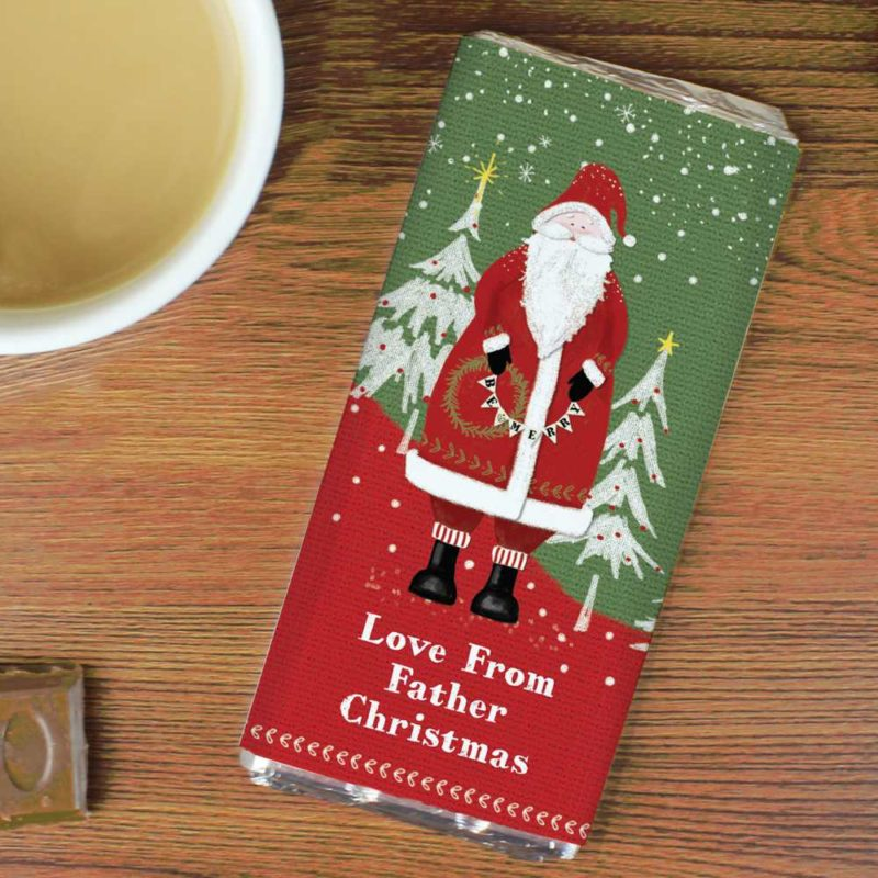 Personalised 'Father Christmas' Milk Chocolate Bar