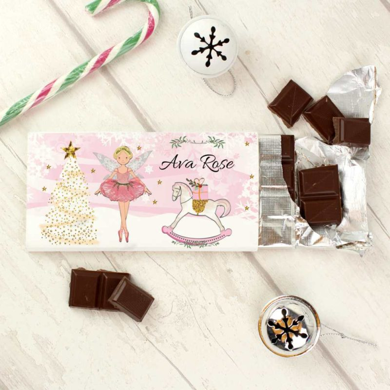 Personalised 'Sugar Plum Fairy' Milk Chocolate Bar