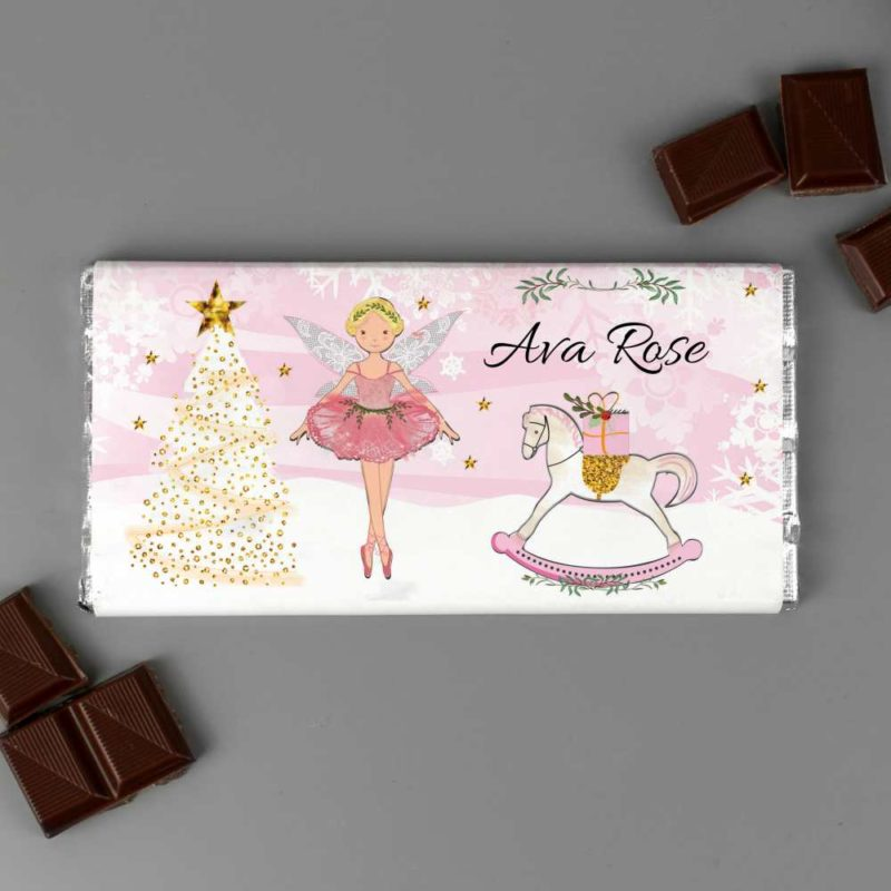 Personalised 'Sugar Plum Fairy' Milk Chocolate Bar
