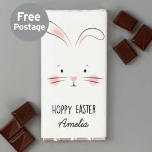 Personalised Bunny Milk Chocolate Bar