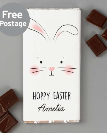 Personalised Bunny Milk Chocolate Bar
