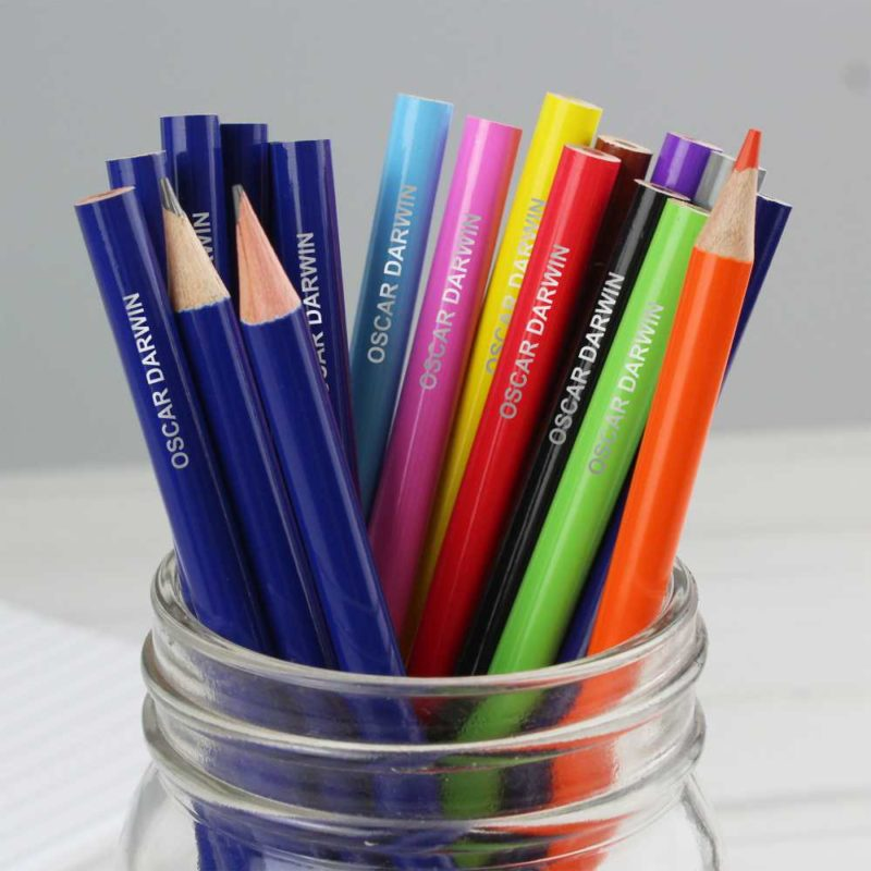 Personalised Pack of Pencils and Colouring Pencils