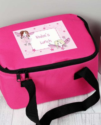 Personalised Fairy Hot Pink Lunch Bag