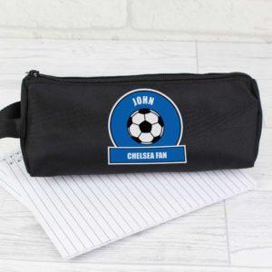 Personalised Royal Blue Football Fan Pencil Case