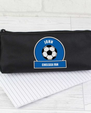 Personalised Royal Blue Football Fan Pencil Case