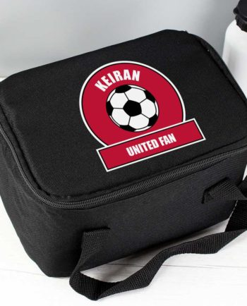 Personalised Red Football Fan Lunch Bag