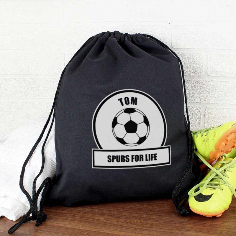 Personalised Football Fan P.E Kit Bag