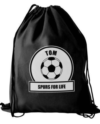 Personalised Football Fan P.E Kit Bag