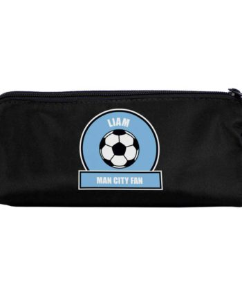 Personalised Sky Blue Football Fan Pencil Case