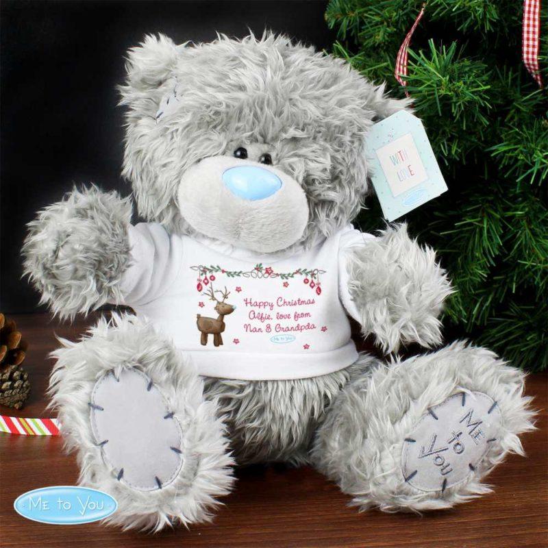 Personalised 'Christmas Reindeer' Me To You Bear