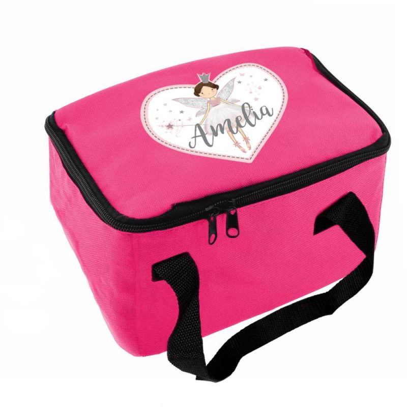 Personalised Magical Fairy Hot Pink Lunch Bag