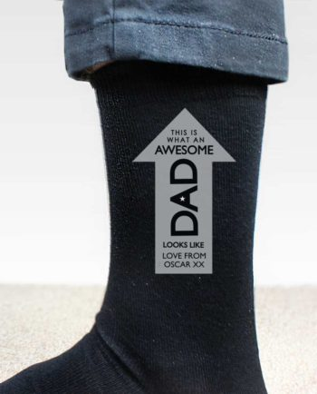Personalised 'Awesome Dad' Men's Socks