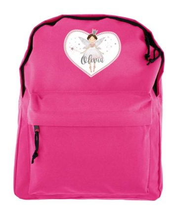 Personalised Magical Fairy Hot Pink Backpack