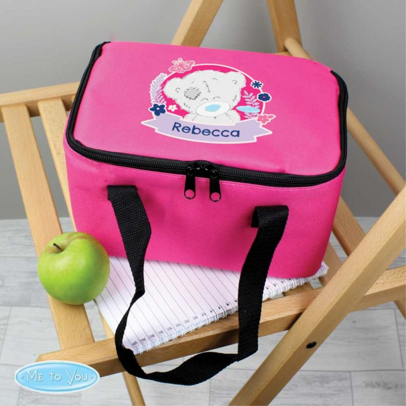 Personalised 'Me To You' Hot Pink Lunch Bag