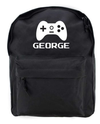 Personalised Gaming Controller Black Backpack